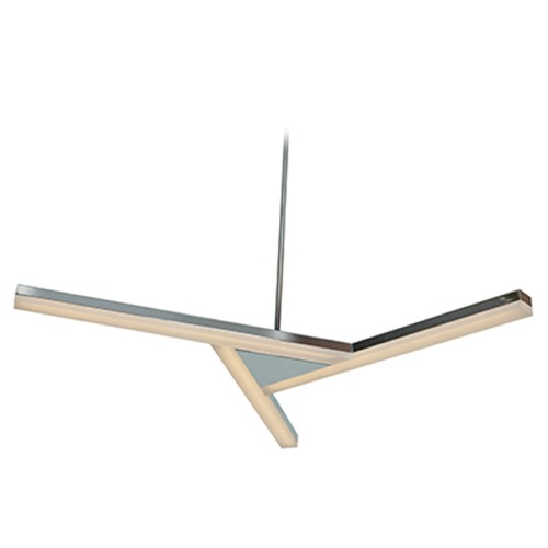 Access Lighting Access Lighting Aviator Chrome LED Pendant Light with Rectangle Shade 63965LEDD-CH/ACR