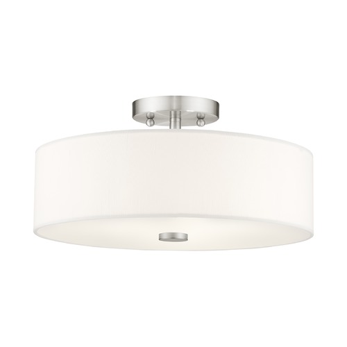 Livex Lighting Livex Lighting Brighton Brushed Nickel Semi-Flushmount Light 51054-91