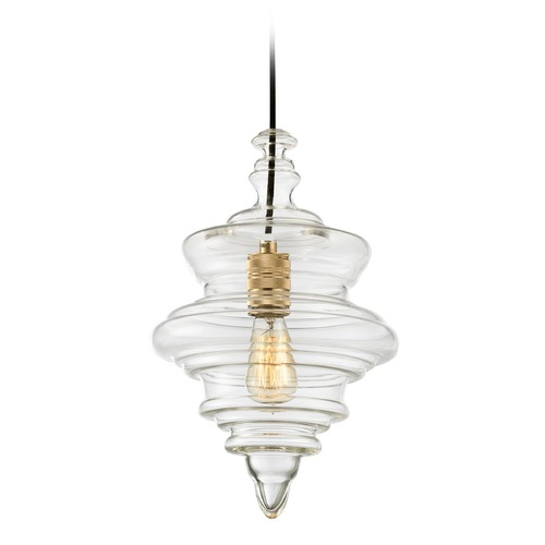 Elk Lighting Elk Lighting Feelix Polished Gold Pendant Light with Urn Shade 14451/1