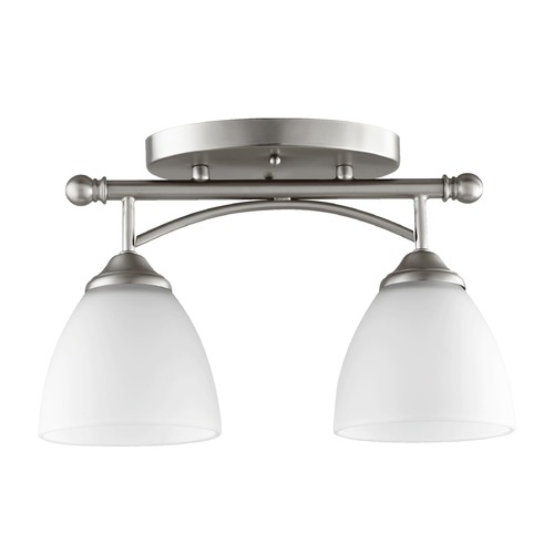 Quorum Lighting Quorum Lighting Brooks Satin Nickel Semi-Flushmount Light 3250-2-65