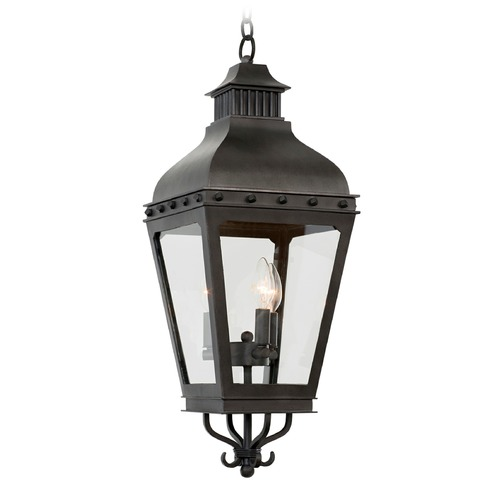 Kalco Lighting Kalco Shorecrest Aged Iron Outdoor Hanging Light 403351AI