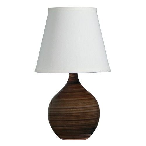 House of Troy Lighting House Of Troy Scatchard Tigers Eye Table Lamp with Empire Shade GS50-TE