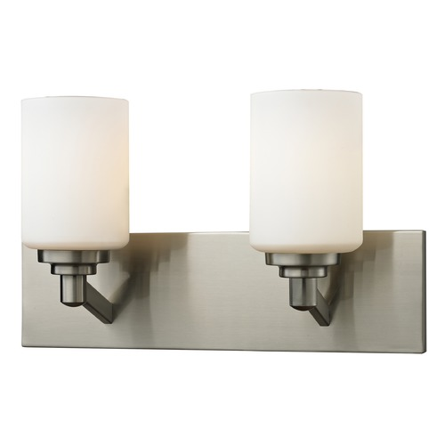 Z-Lite Z-Lite Montego Brushed Nickel Bathroom Light 410-2V