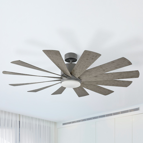 Modern Forms by WAC Lighting Modern Forms Graphite 60-Inch LED Smart Ceiling Fan 2700K 2041LM FR-W1815-60L27GHWG