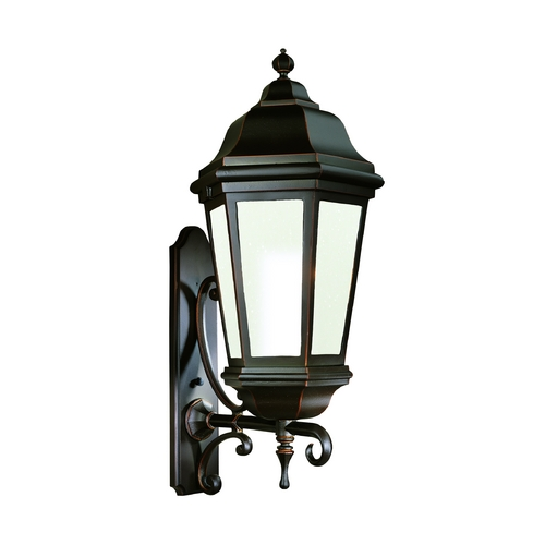 Troy Lighting Outdoor Wall Light with Clear Glass in Matte Black Finish BFCD6836MB