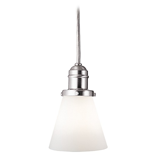 Hudson Valley Lighting Mini-Pendant Light with White Glass 3102-SN-505M