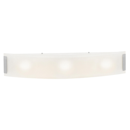 Access Lighting Modern Bathroom Light with White Glass in Brushed Steel Finish 62234-BS/LFR