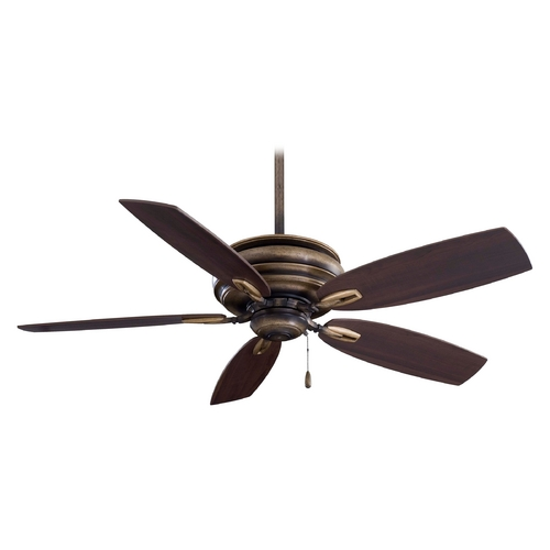 Minka Aire Ceiling Fan Without Light in Iron Finish F614-PI