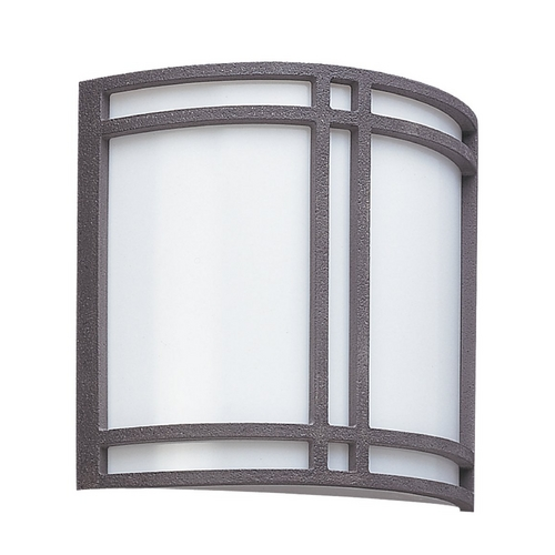 Sea Gull Lighting Modern Outdoor Wall Light with White Acrylic in Olde Iron Finish 89060BLE-72