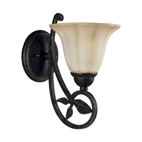 Progress Lighting Progress Sconce Wall Light with Beige / Cream Glass in Espresso Finish P3012-84