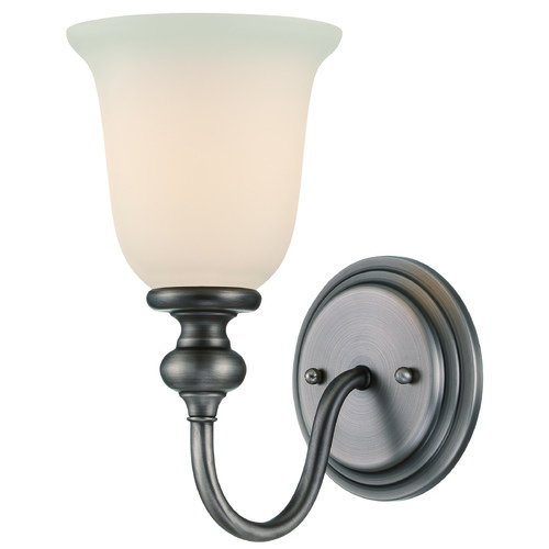Jeremiah Lighting Jeremiah Willow Park Antique Nickel Sconce 28501-AN