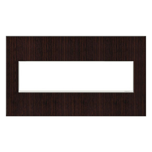 Legrand Adorne Legrand Adorne Wenge Wood 4-Gang Switch Plate AWM4GWE4