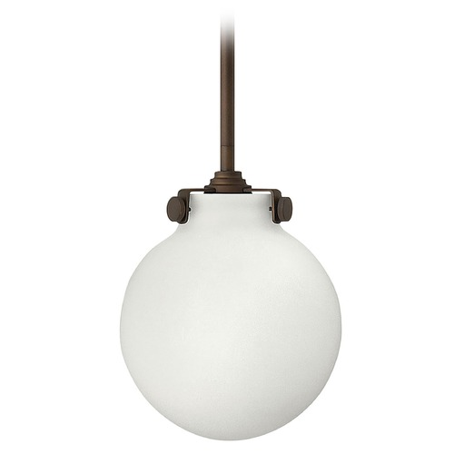 Hinkley Lighting Mini-Pendant Light with White Glass 3133OZ
