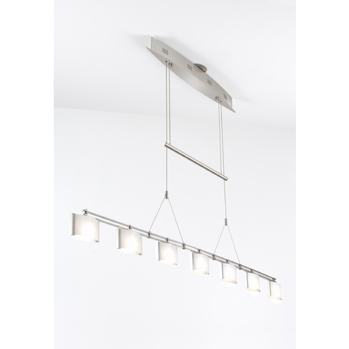 Holtkoetter Lighting Holtkoetter Modern Low Voltage Drum Pendant Light with White Glass in Satin Nickel Finish 5517 SN GB50