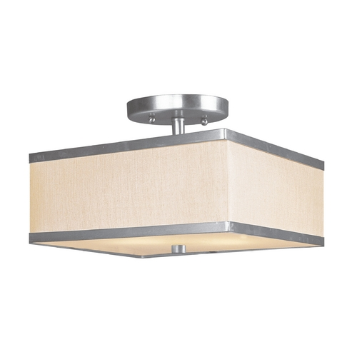 Livex Lighting Livex Lighting Park Ridge Brushed Nickel Semi-Flushmount Light 6347-91