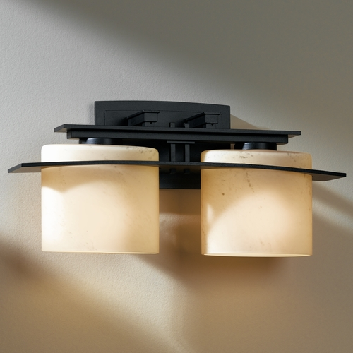 Hubbardton Forge Lighting Hubbardton Forge Lighting Ellipse Dark Smoke Bathroom Light 207522F-07-H182