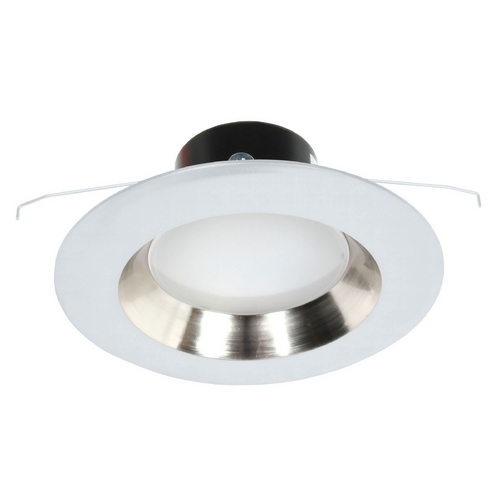 Recesso Lighting by Dolan Designs LED Retrofit Trim with Satin Nickel Reflector for 5 or 6 Inch Recessed Cans 3000K 1100 Lumens 10902-05