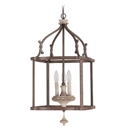 Capital Lighting Capital Lighting Chateau French Oak Pendant Light 9472FO