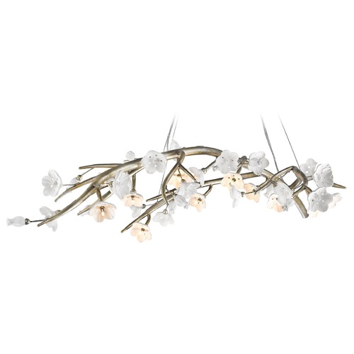 Golden Lighting Golden Lighting Aiyana Silver Leaf Chandelier 9942-12 SL