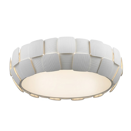 Access Lighting Access Lighting Layers White LED Flushmount Light 50902LEDD-WH/WH