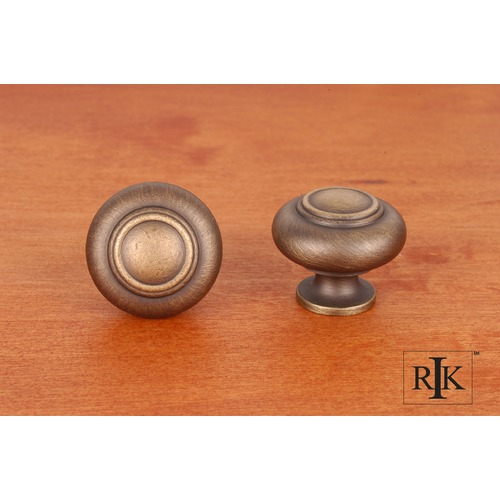RK International Small Double Ringed Knob CK708AE