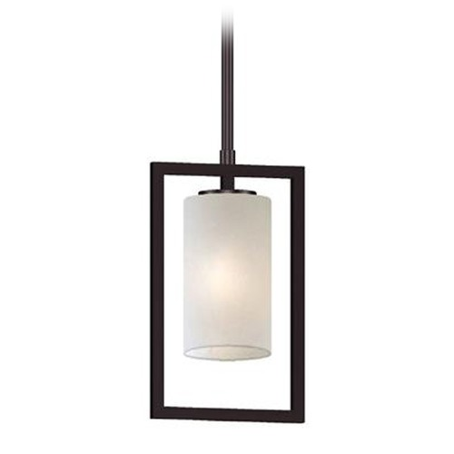Lite Source Lighting Lite Source Adalyn Dark Bronze Mini-Pendant Light with Cylindrical Shade LS-19523