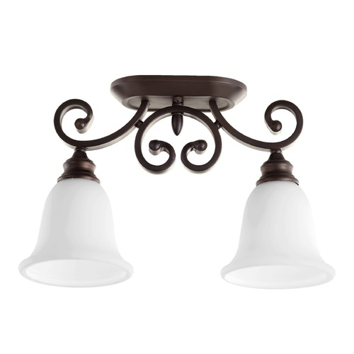 Quorum Lighting Quorum Lighting Bryant Oiled Bronze Semi-Flushmount Light 3254-2-186