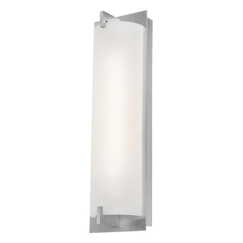 Access Lighting Bo Brushed Steel Bathroom Light - Vertical Mounting Only 62235-BS/OPL