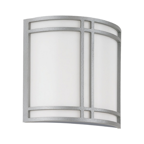 Sea Gull Lighting Modern Outdoor Wall Light with White Acrylic in Pewter Finish 89060BLE-755