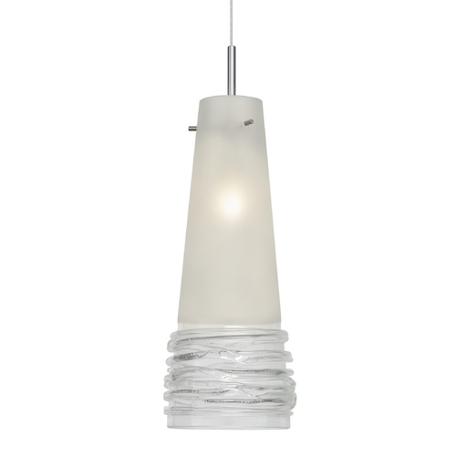 Oggetti Lighting Murano Mini-Pendant Light with Clear Art Glass  29-104B