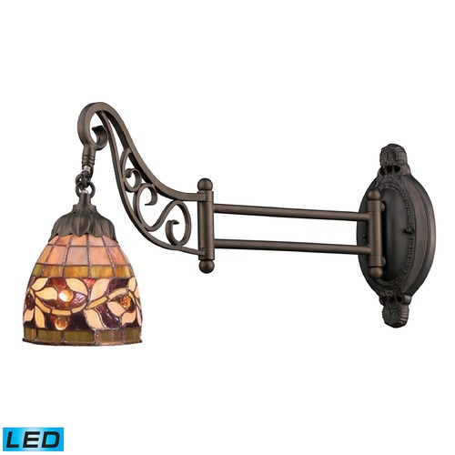Elk Lighting Elk Lighting Mix-N-Match Tiffany Bronze LED Swing Arm Lamp 079-TB-13-LED