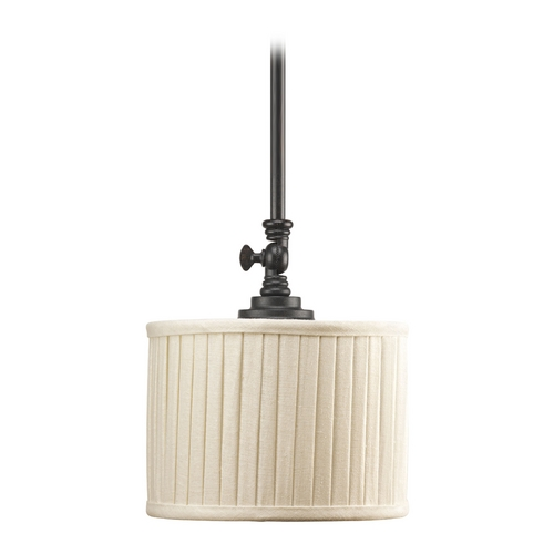 Progress Lighting Progress Mini-Pendant Light with Beige / Cream Shade P5256-84