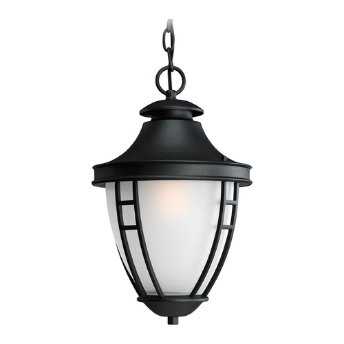 Progress Lighting Outdoor Hanging Light with White Glass in Black Finish P5547-31