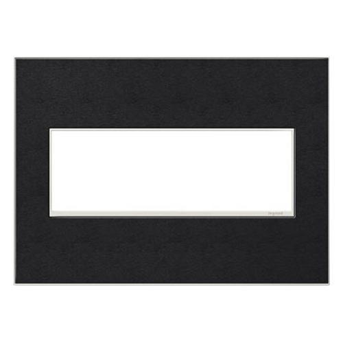 Legrand Adorne Legrand Adorne Black Leather 3-Gang Switch Plate AWM3GLE4
