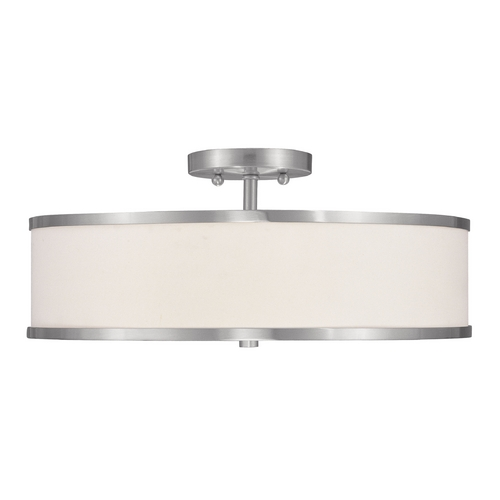 Livex Lighting Livex Lighting Park Ridge Brushed Nickel Semi-Flushmount Light 6352-91