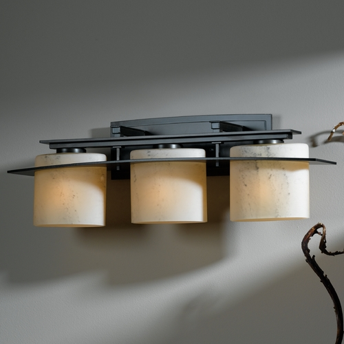 Hubbardton Forge Lighting Hubbardton Forge Lighting Ellipse Burnished Steel Bathroom Light 20752308-H182