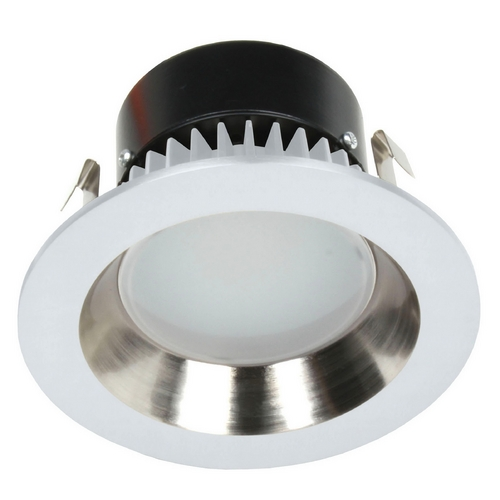 Recesso Lighting by Dolan Designs LED Retrofit Trim with Satin Nickel Reflector for 4 Inch Recessed Cans 3000K 700 Lumens 10903-05