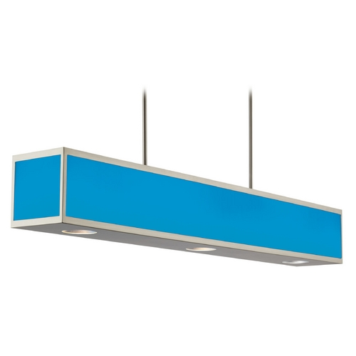 Hart Lighting Hart Lighting Chameleon Color Changing Steel LED Island Light with Rectangle Shade 1097