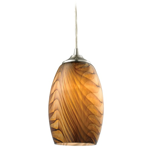 Elk Lighting Tidewaters Satin Nickel Mini Pendant Light