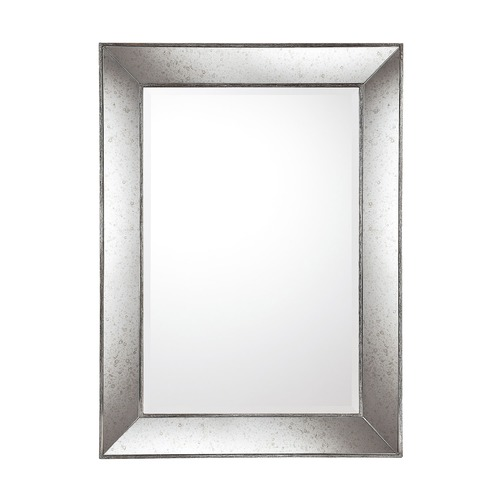Capital Lighting Capital Lighting Aged Silver with Antiqued Frame Rectangle Mirror 45.4x33.2 M362470