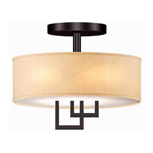 Lite Source Lighting Lite Source Adalyn Dark Bronze Semi-Flushmount Light LS-5524