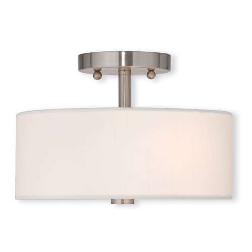 Livex Lighting Livex Lighting Brighton Brushed Nickel Semi-Flushmount Light 51052-91