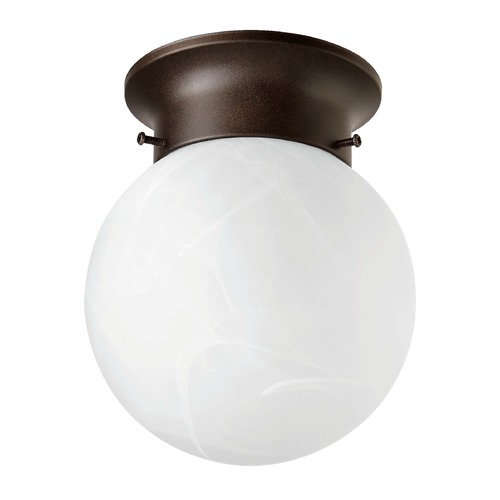 Quorum Lighting Quorum Lighting Oiled Bronze Close To Ceiling Light 3304-6-86
