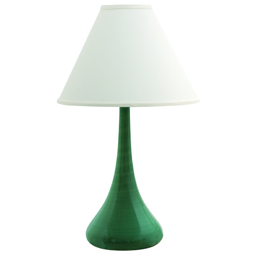 House of Troy Lighting House Of Troy Scatchard Sage Table Lamp with Conical Shade GS801-SG