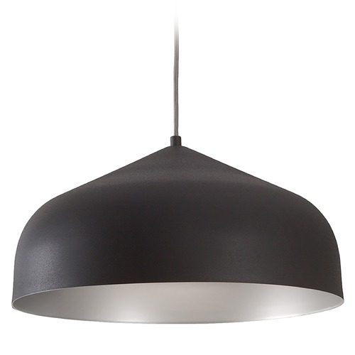 Kuzco Lighting Kuzco Lighting Helena Graphite with Silver Pendant Light with Bowl / Dome Shade 49117-GH/SV