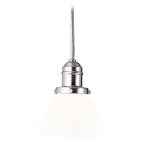 Hudson Valley Lighting Mini-Pendant Light with White Glass 3102-SN-823