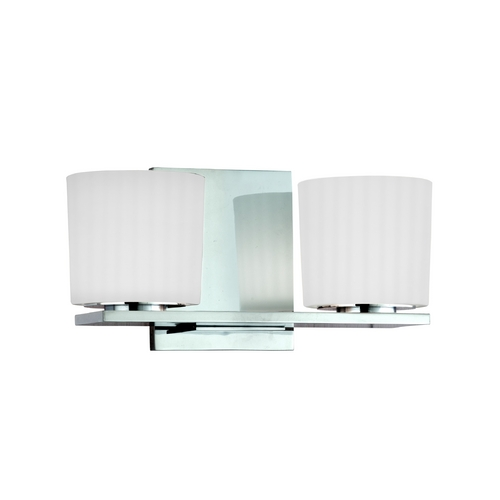 Hudson Valley Lighting Modern Bathroom Light with White Glass in Old Bronze Finish 7742-OB