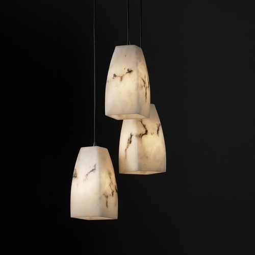 Justice Design Group Justice Design Group Lumenaria Collection Multi-Light Pendant FAL-8864-65-MBLK