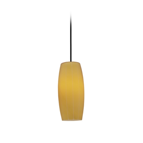 Access Lighting Modern Mini-Pendant Light with Amber Glass 28070-2C-ORB/AMB