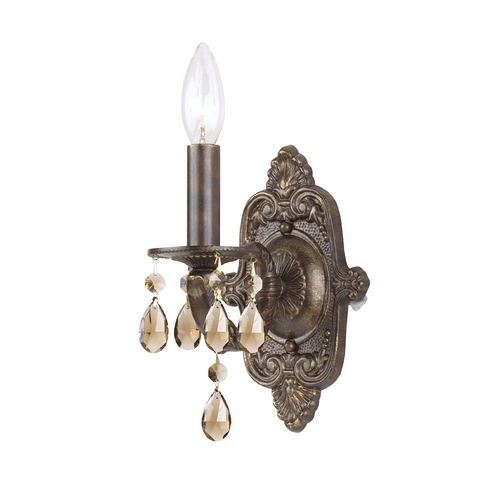 Crystorama Lighting Sconce Wall Light in Venetian Bronze Finish 5021-VB-GTS